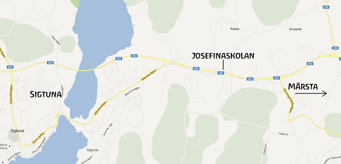 Hitta till Josefinaskolan